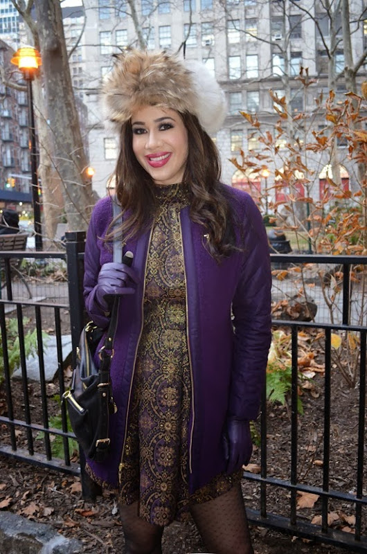 LeAura Winter Purple Look