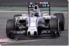 Valtteri Bottas con la Williams nei test di Barcellona 2015