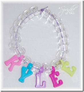 Name Bracelet {A Sprinkle of This . . . . A Dash of That}