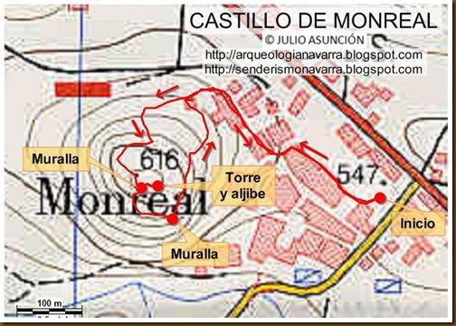 Mapa Castillo de Monreal