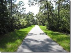 A deserted bike path