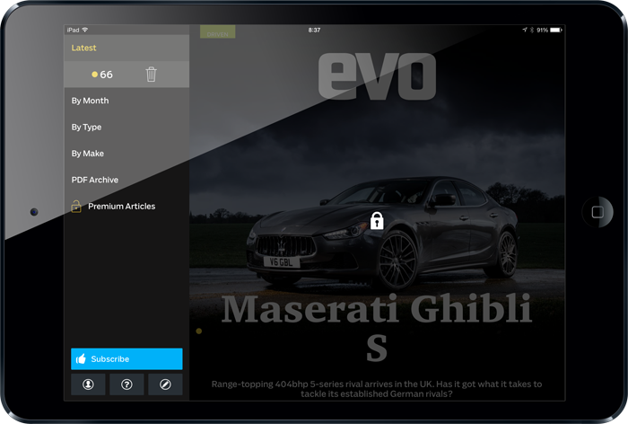 Th EVO iPad app