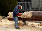Just Carving A Tree.
