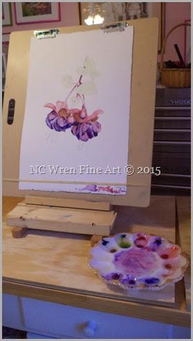 watercolor, class, pigment, palette, fuschias, pigment hoarder