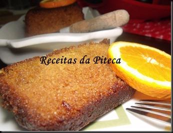 Bolo de laranja (Sticky orange cake) da Nigella- fatia perto