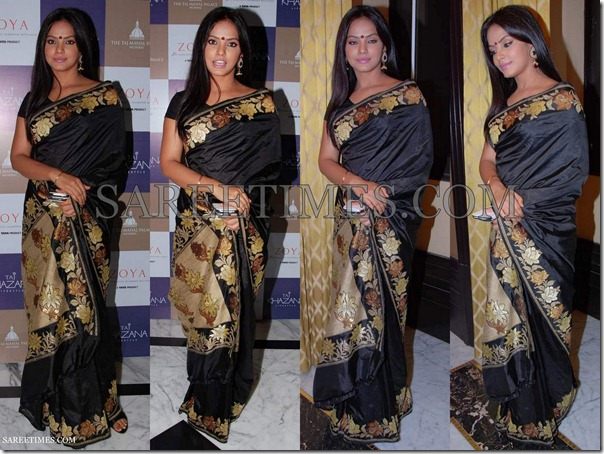 Neetu_Chandra_Black_Saree