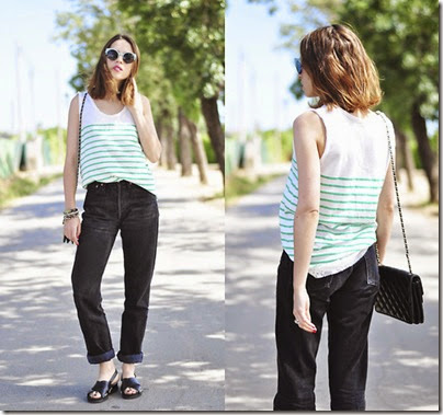 Stripes and mum jeans by Saray D.