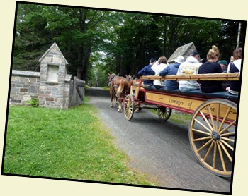 17c - Jordan Pond House Gate - Carriage passes