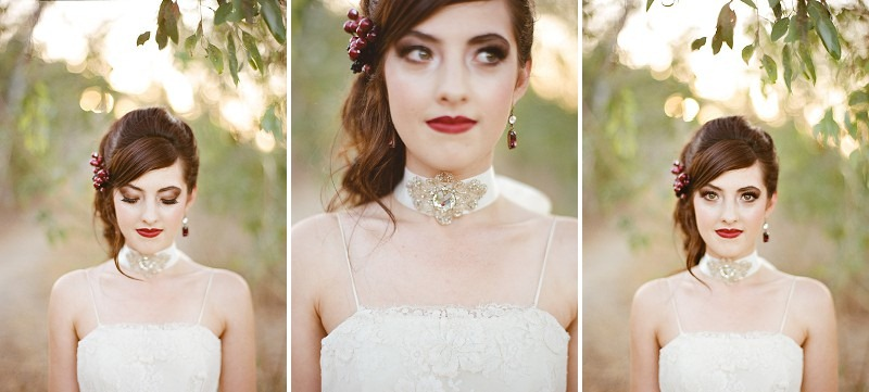 6OakandtheOwl_Raven Hair Red Lips Bridal
