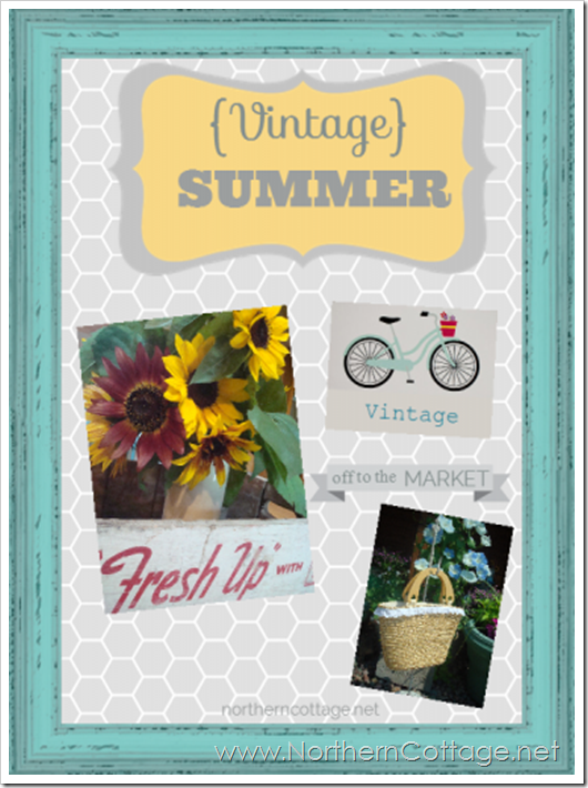 vintage summer inspiration board