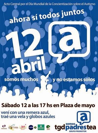 12 - 04 - 14 - Dia Autismo en Plaza de Mayo