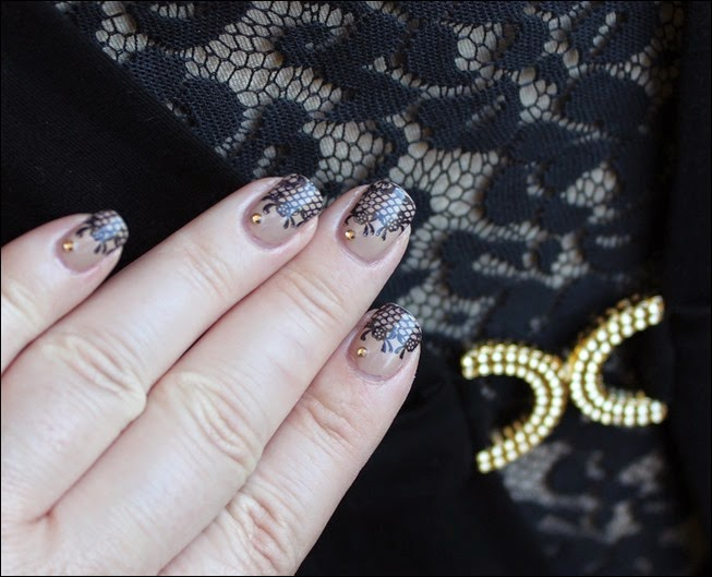 Nageldesign Nail Art Wedding Lace 08