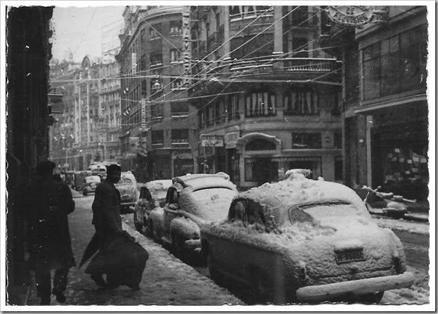 1960 valencia en manto de nieve