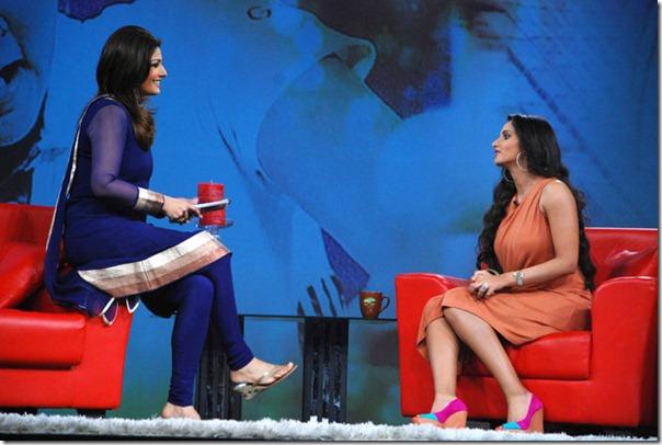 """Shoaib Malik and Sania Mirza on Raveena's show """"Isi ka Naam Zindagi Hai""""i-9"""