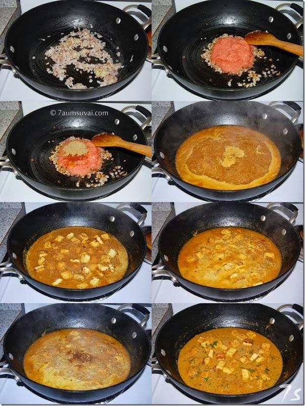 Tofu tawa masala process 2