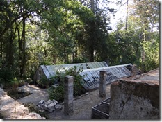 Outre des jardins et potagers, vous pourrez ausi voir des serres