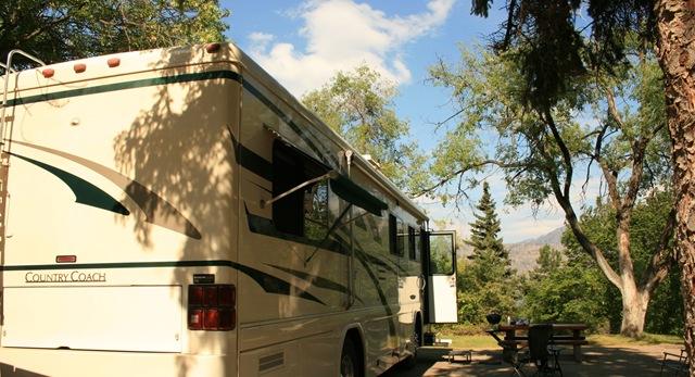 Our site at Okanagan Lake PP