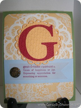 G for Gratitude