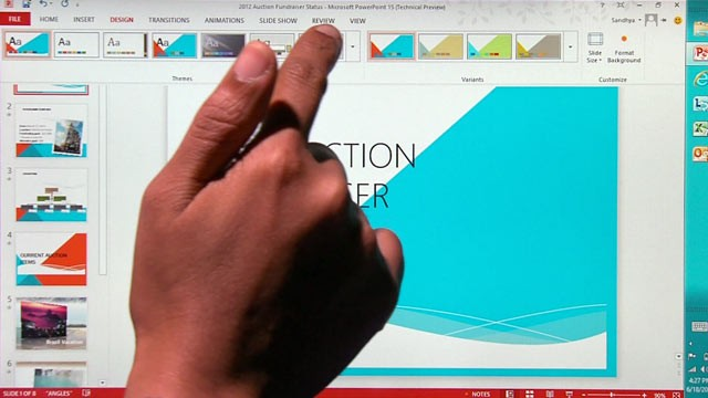 Como activar el modo táctil en Office 2013