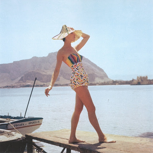 Here is an example of a Pucci one-piece swimsuit with hand-painted cotton in a playful motif.