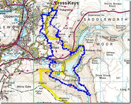 Cross Keys 2013 route
