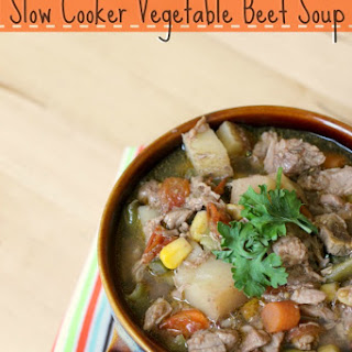 Slow Cooker Vegetable Beef Soup.