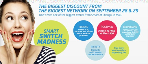 Smart Switch Madness Sale - iPhone 4S Plan 1500