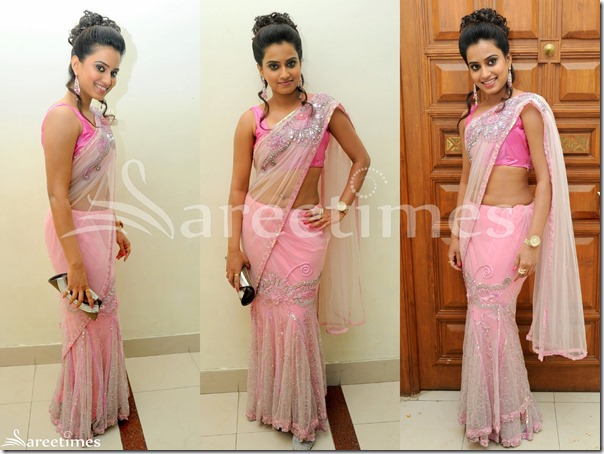 Dimple_Chopade_Pink_Netted_Saree