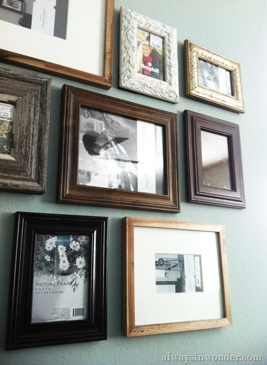 Photo wall in living room