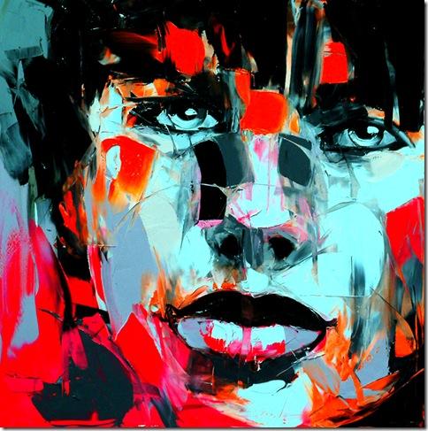 Francoise Nielly - 1 noir et blanche
