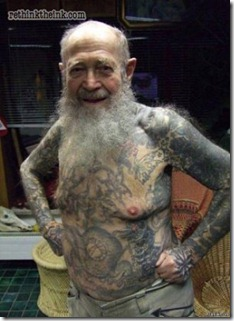 Tats on old man