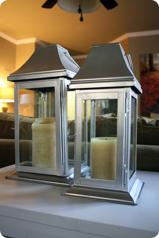 brushed nickel lanterns
