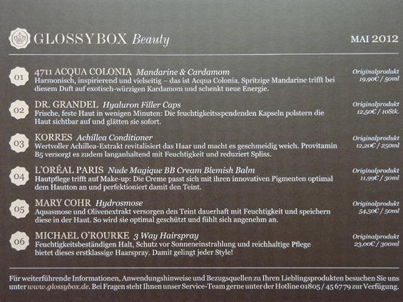 Glossybox Mai 2012c