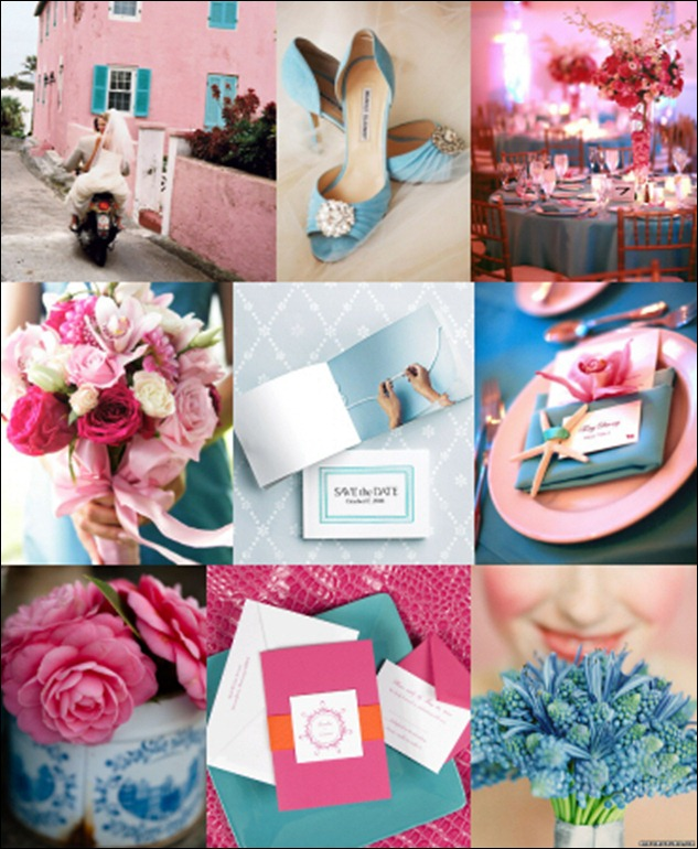 casamento azul rosa