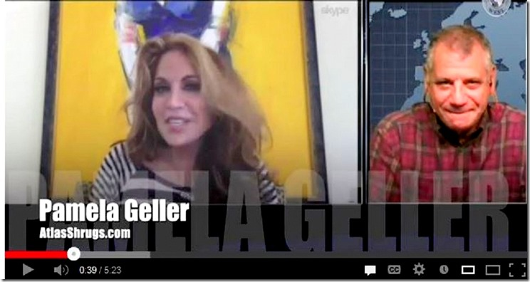 Pam Geller - Tom Trento. Screen Capture of TrentoVision