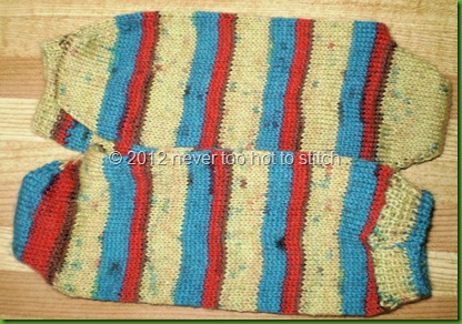 2012 red, yellow turquoise toe up socks