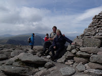 Walk Leader and Manager - Bill and Morag - at the top of the Cairngorms