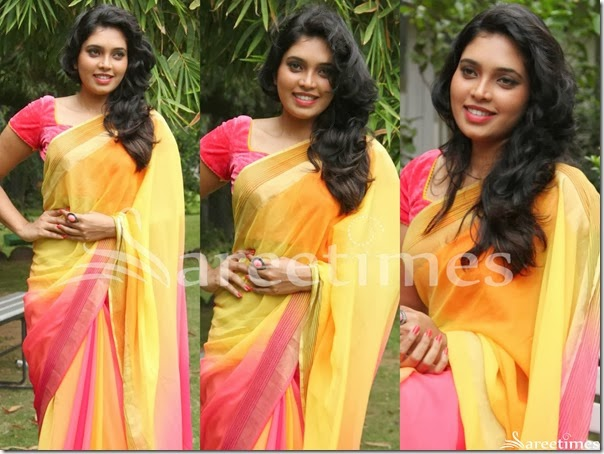 Yellow_Pink_Dual_Color_Saree