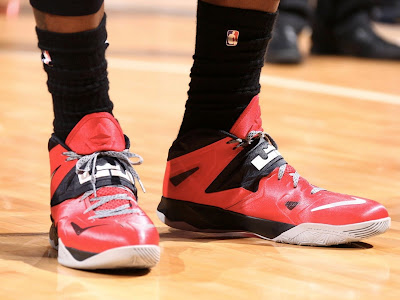 lebron james nba 140528 mia at ind 16 game 5 Closer Look at LeBrons Nike Zoom Soldier VII PE (Game 4 & 5)
