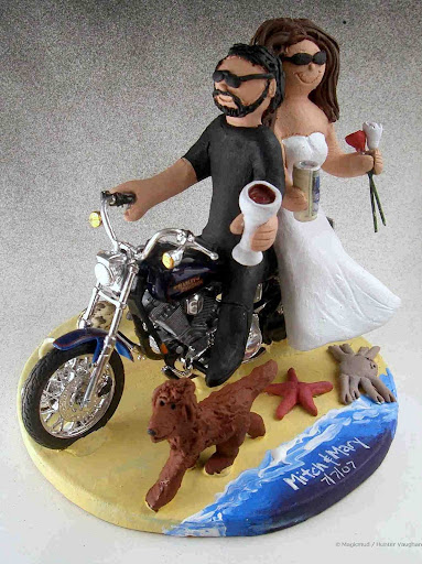 wedding cake toppers biker wedding cake toppers. Black Bedroom Furniture Sets. Home Design Ideas