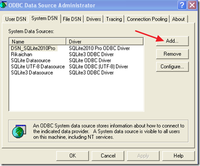 Before you can add a named data source, you must add the edb-odbc driver to the list of drivers in the
