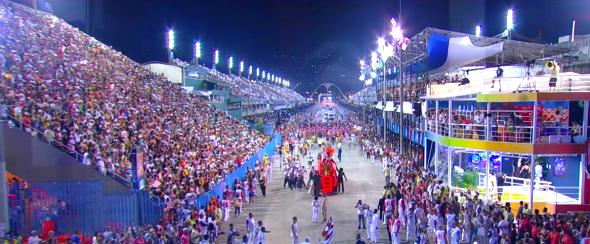 Desfile das escolas de samba do Rio de Janeiro (Reprodução/TV Globo)