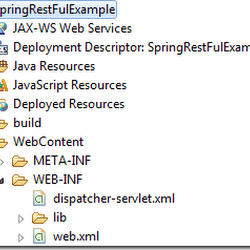 Spring Restful Web Services Example
