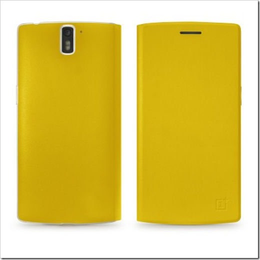 OnePlus PU Leather Flip Cover Yellow