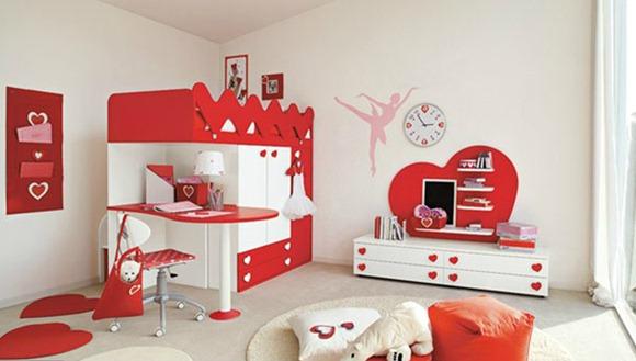 15 modelos de dormitorios decorados con corazones solo for Cuartos para ninas decorados
