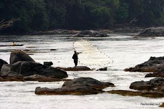 Un pêcheur sur la rivière à Epulu en Ituri, 2006.