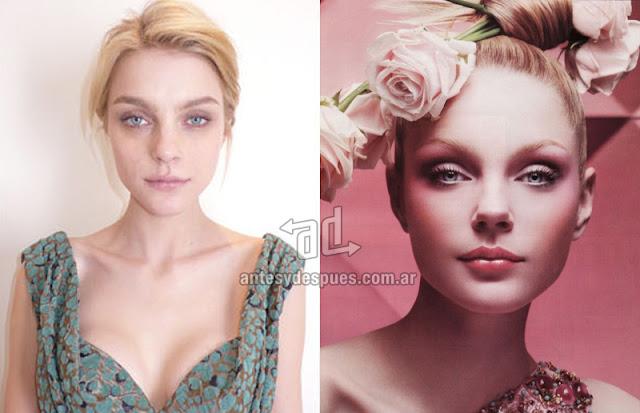 Fotos de la modelo Jessica Stam sin maquillaje