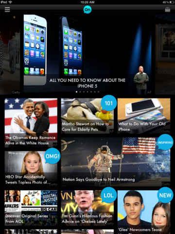 AOL app en el ipad