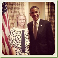 Obama IDianna agron glee