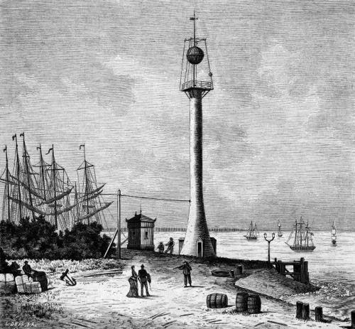 Zeitball_in_Bremerhaven_-_Rudolf_Stieler_-_um_1876